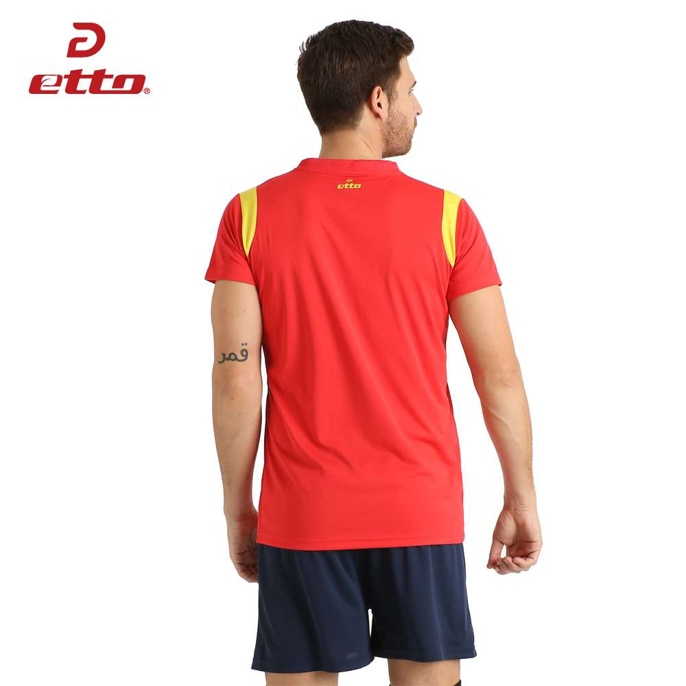 Etto New Male Sport Breathable Short Sleeved T shirt And Shorts Volleyball Suit Professional Volley ball 2