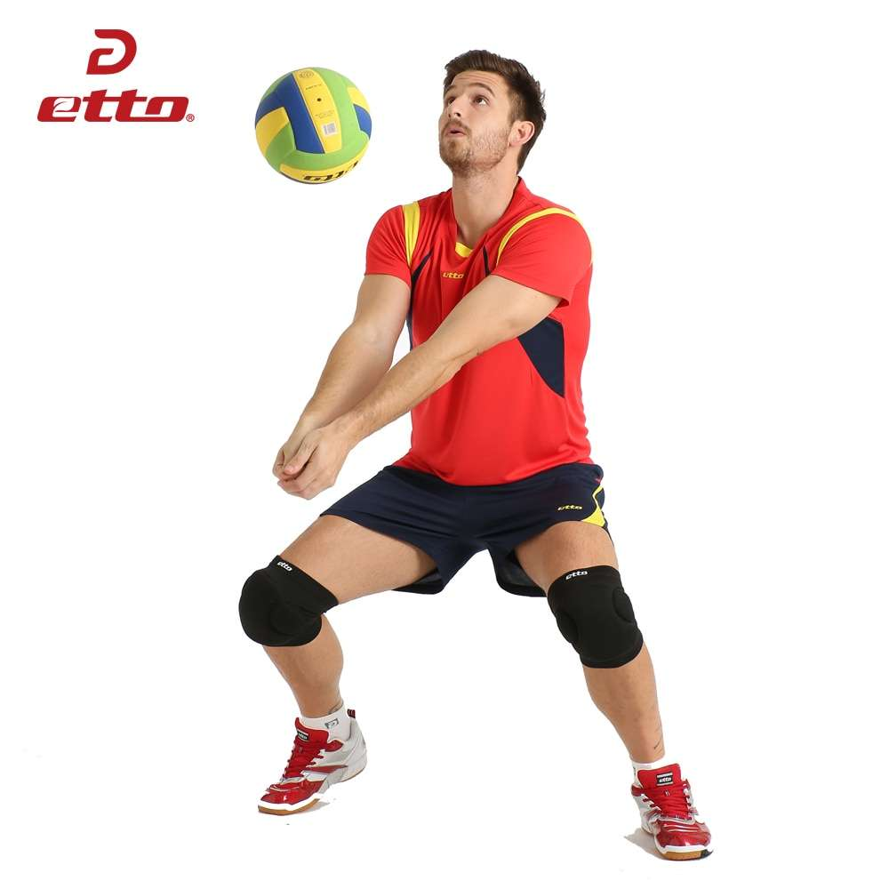 Etto New Male Sport Breathable Short Sleeved T shirt And Shorts Volleyball Suit Professional Volley ball 3
