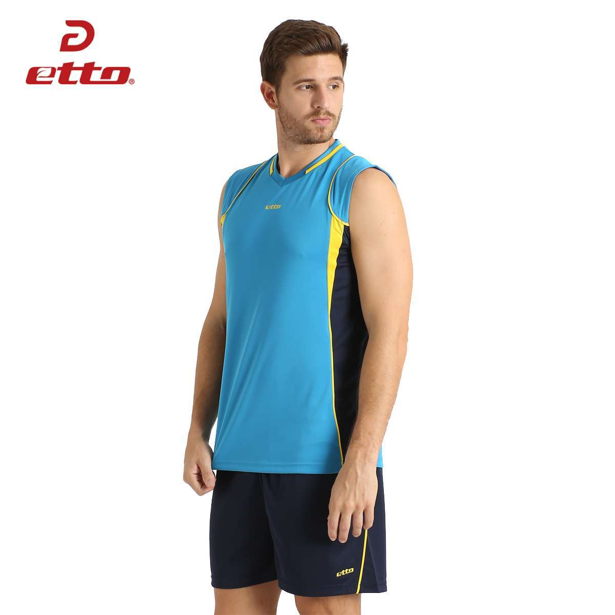Etto Professional Men Sleeveless Volleyball Set Team Uniforms Breathable Quick dry Volleyball Jersey Suit Sportswear HXB002 1
