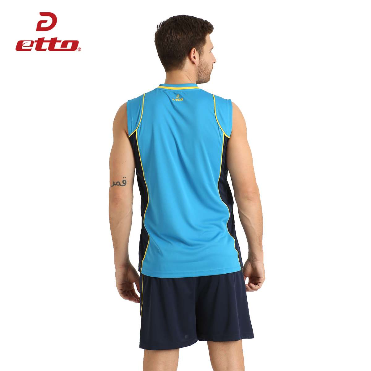 Etto Professional Men Sleeveless Volleyball Set Team Uniforms Breathable Quick dry Volleyball Jersey Suit Sportswear HXB002 2