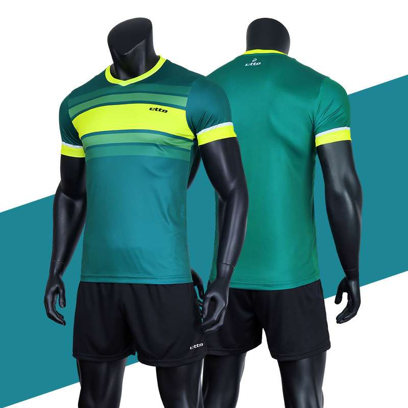Etto Professional Men Volleyball Team Uniforms Quick Dry Short sleeve Jersey Volleyball Set Male Match Tracksuits 1