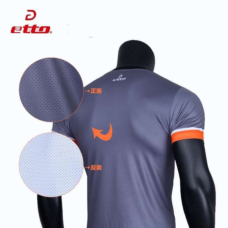 Etto Professional Men Volleyball Team Uniforms Quick Dry Short sleeve Jersey Volleyball Set Male Match Tracksuits 3