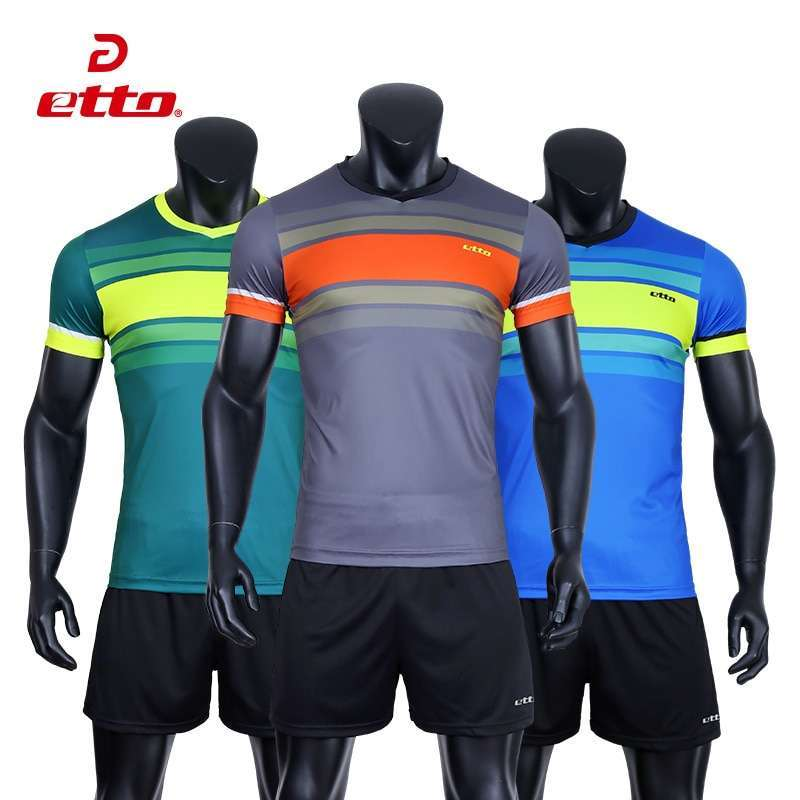 Etto Professional Men Volleyball Team Uniforms Quick Dry Short sleeve Jersey Volleyball Set Male Match Tracksuits