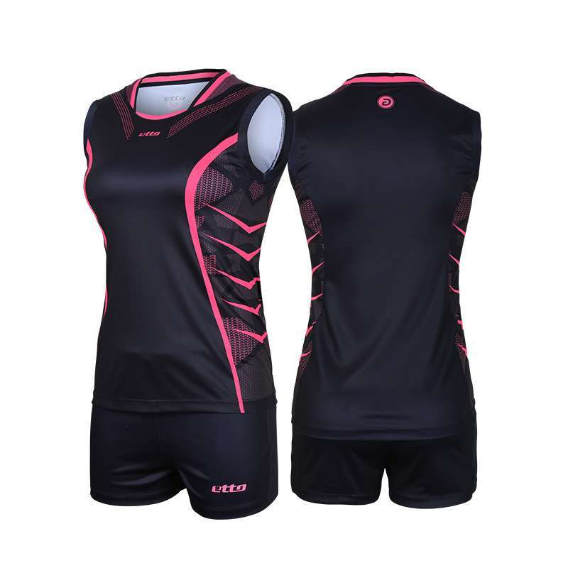 Etto Professional Volleyball Team Suits For Women Quick Dry Sleeveless Jersey Volleyball Set Female Match Tracksuit 1
