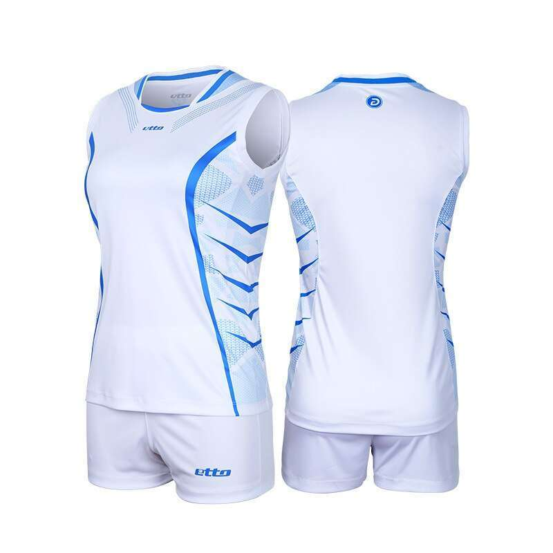 Etto Professional Volleyball Team Suits For Women Quick Dry Sleeveless Jersey Volleyball Set Female Match Tracksuit 2
