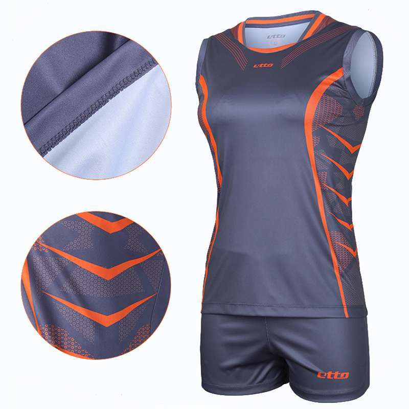 Etto Professional Volleyball Team Suits For Women Quick Dry Sleeveless Jersey Volleyball Set Female Match Tracksuit 3