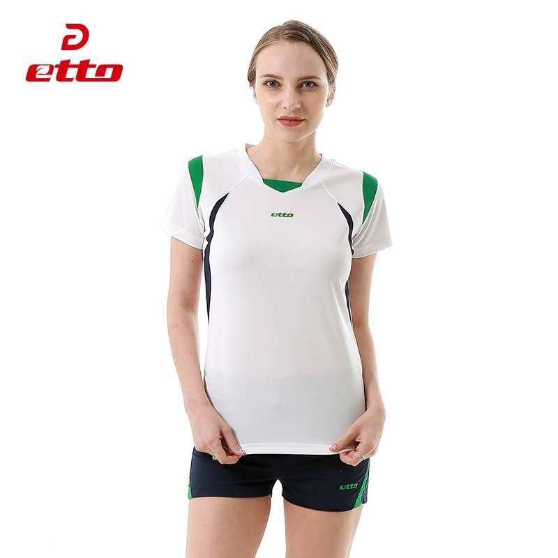 Etto Short Sleeve Volleyball Suit Breathable Quick Dry Sportswear Shorts Jersey Volleyball Set Team Training Tracksuit 1