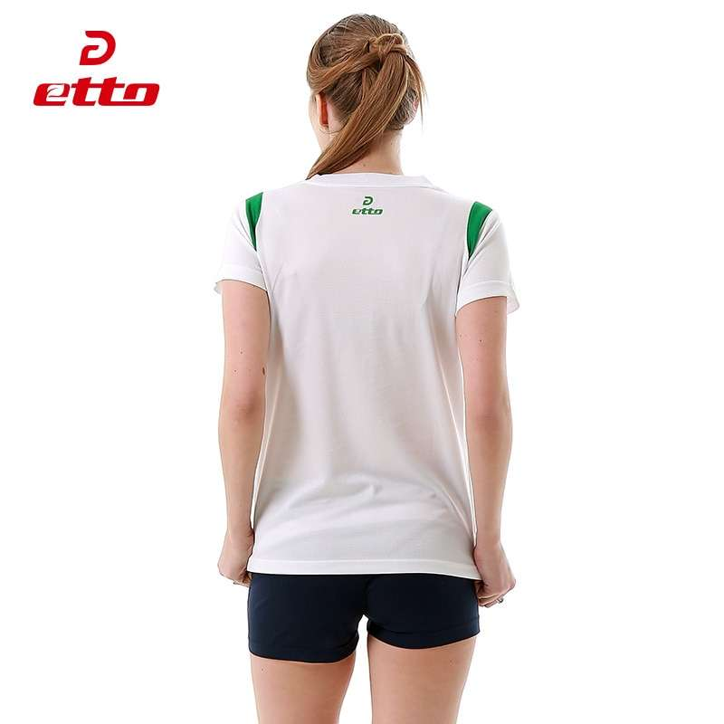 Etto Short Sleeve Volleyball Suit Breathable Quick Dry Sportswear Shorts Jersey Volleyball Set Team Training Tracksuit 2