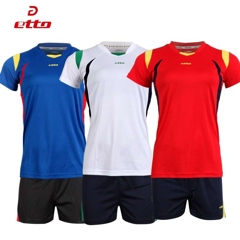 Etto Short Sleeve Volleyball Suit Breathable Quick Dry Sportswear Shorts Jersey Volleyball Set Team Training Tracksuit 3