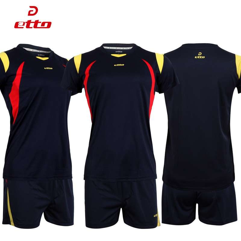 Etto Short Sleeve Volleyball Suit Breathable Quick Dry Sportswear Shorts Jersey Volleyball Set Team Training Tracksuit 4