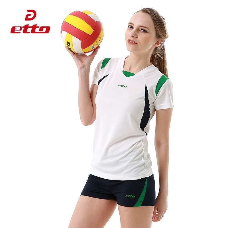 Etto Short Sleeve Volleyball Suit Breathable Quick Dry Sportswear Shorts Jersey Volleyball Set Team Training Tracksuit