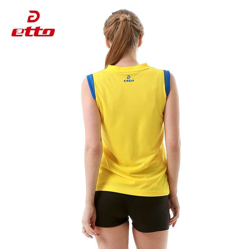 Etto Women Professional Volleyball Uniforms Set Breathable Quick Dry Volleyball Jersey Shorts Kits Female Sportswear HXB017 3