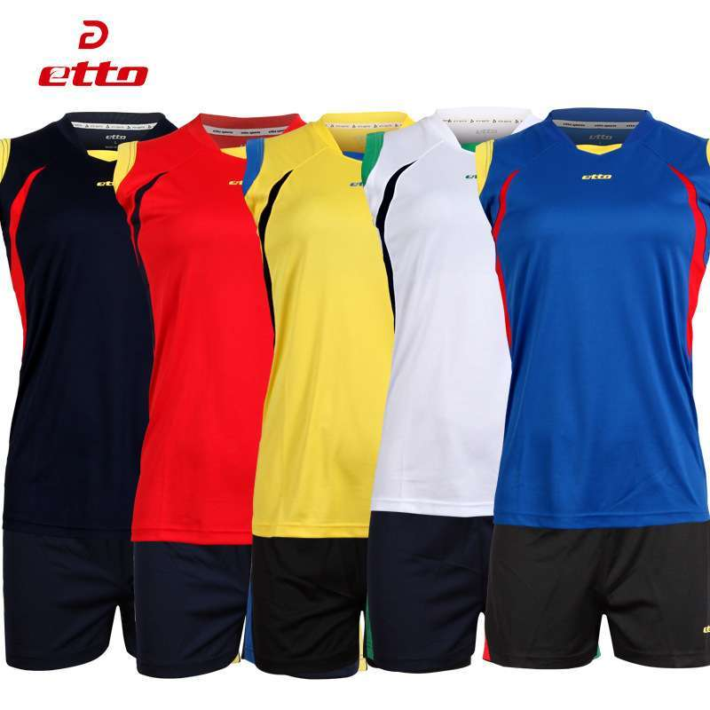 Etto Women Professional Volleyball Uniforms Set Breathable Quick Dry Volleyball Jersey Shorts Kits Female Sportswear HXB017 4