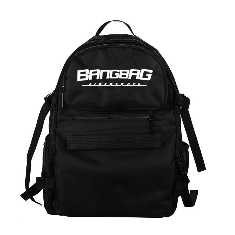 Free Shipping 2017 New Oxford Fabric Double Rocker Bags Skateboard Backpack Lovers Bags Black Students Bags 4