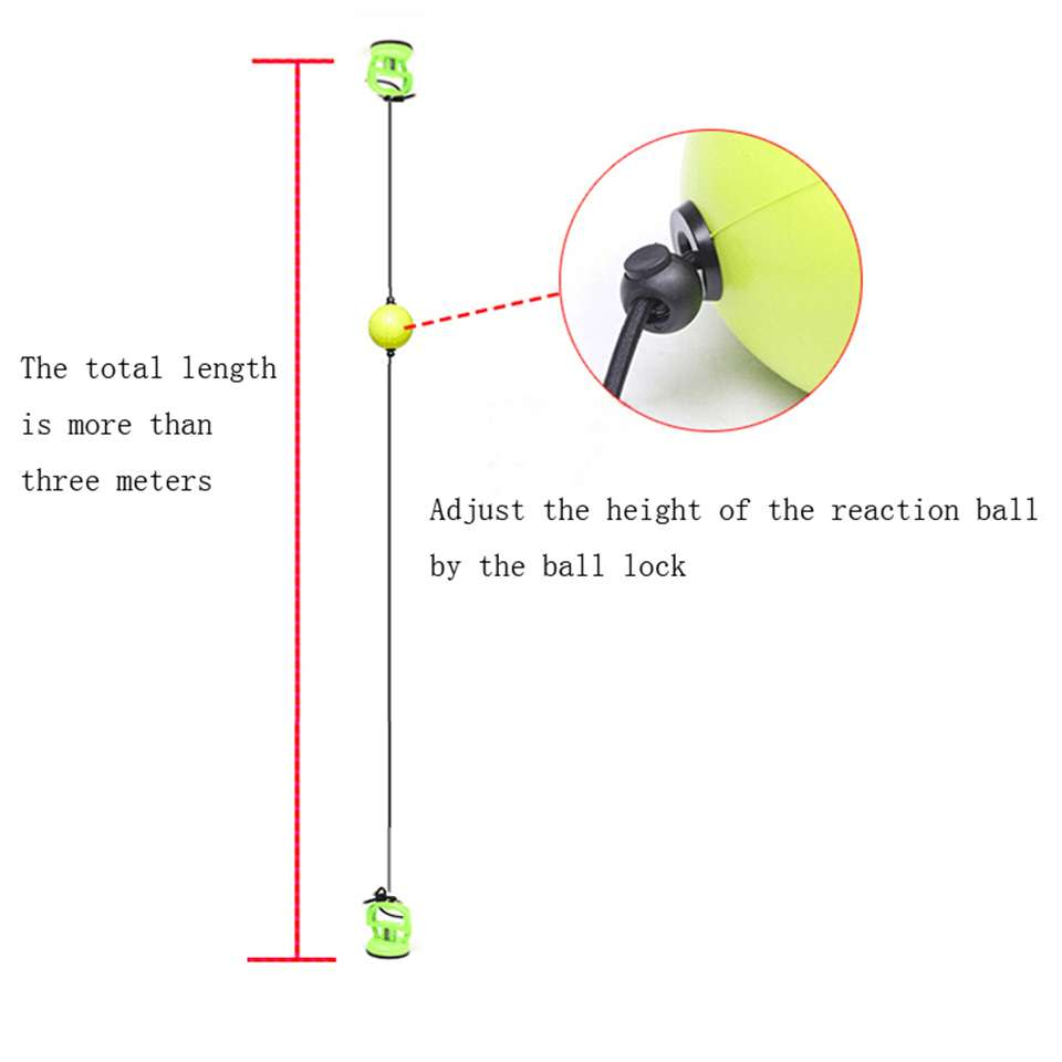 Hot sale High quality 2019 New Boxing Punch Exercise Fight Ball React Reflex Ball Portable Fitness 5