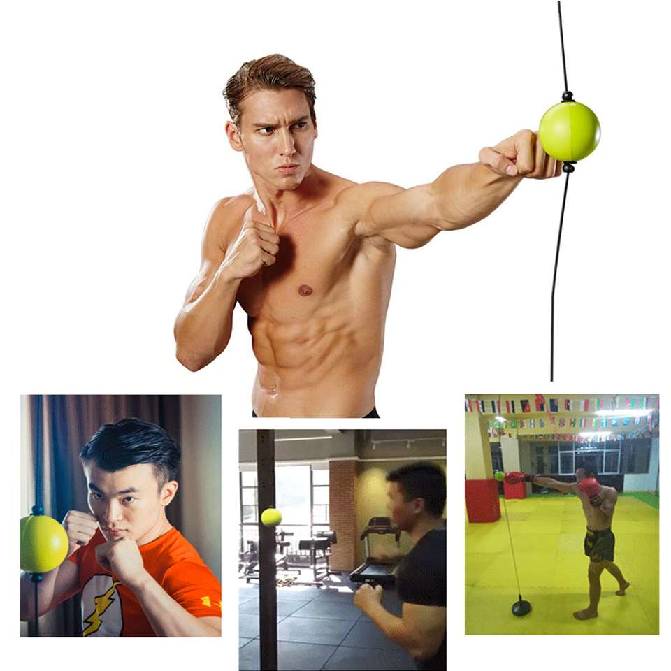 Hot sale High quality 2019 New Boxing Punch Exercise Fight Ball React Reflex Ball Portable Fitness
