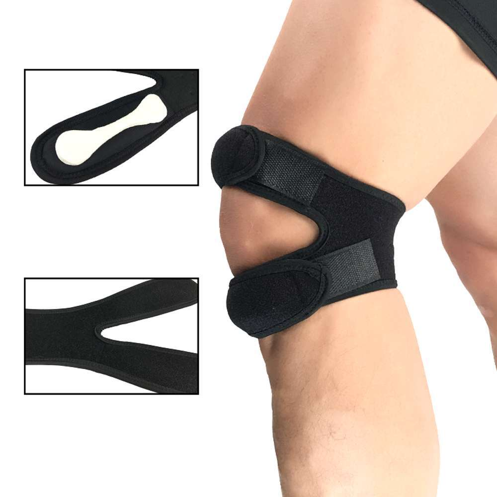 Knee Pads Fitness Running Cycling Knee Support Braces Elastic Sport Compression Sleeve Basketball Volleyball soccer adjustable 2