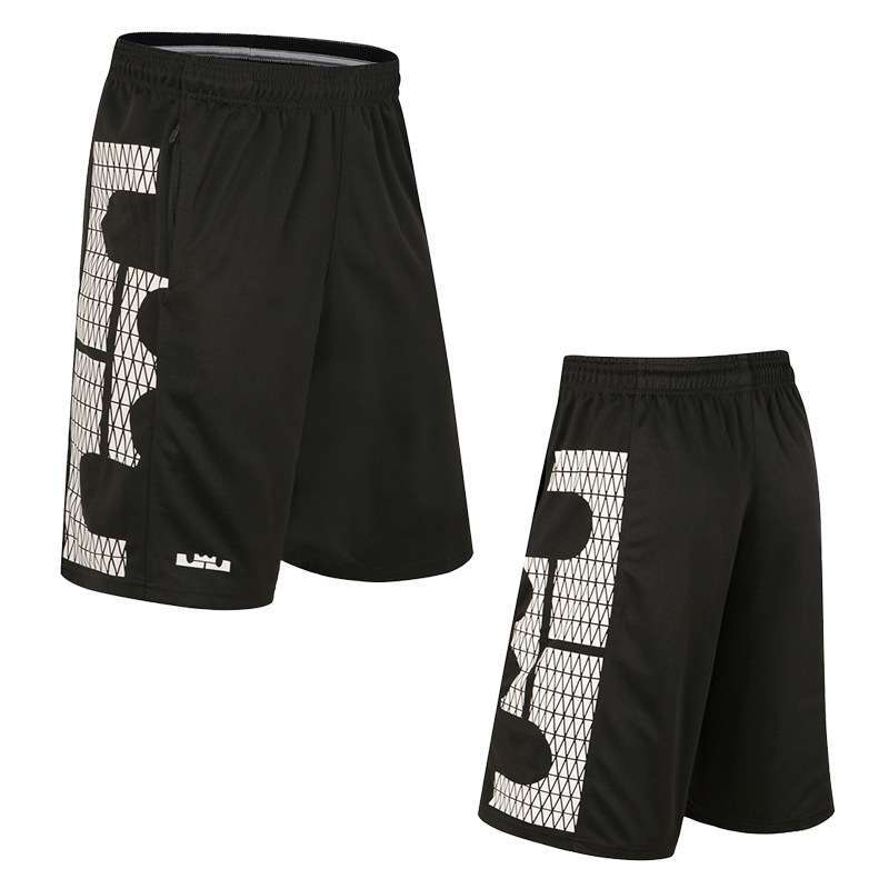 LJ Basketball Shorts With Pocket Quick Dry Breathable Loose Running Training Competition Gym Sport Shorts Plus 1