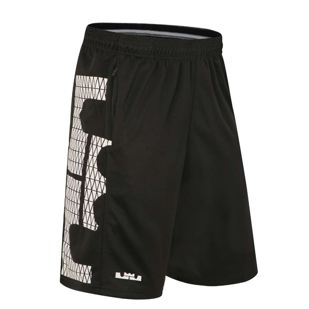 LJ Basketball Shorts With Pocket Quick Dry Breathable Loose Running Training Competition Gym Sport Shorts Plus