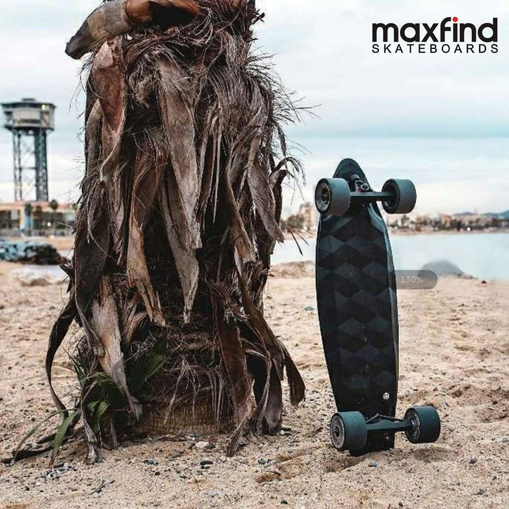 Maxfind Electric Skateboard Forth Generation MAX 2 Single Motor 1000W with COOL Remote Controller Top Speed 1