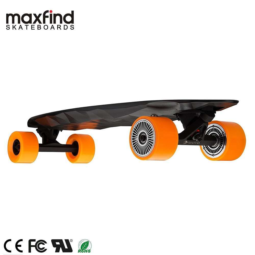 Maxfind Electric Skateboard Forth Generation MAX 2 Single Motor 1000W with COOL Remote Controller Top Speed 3