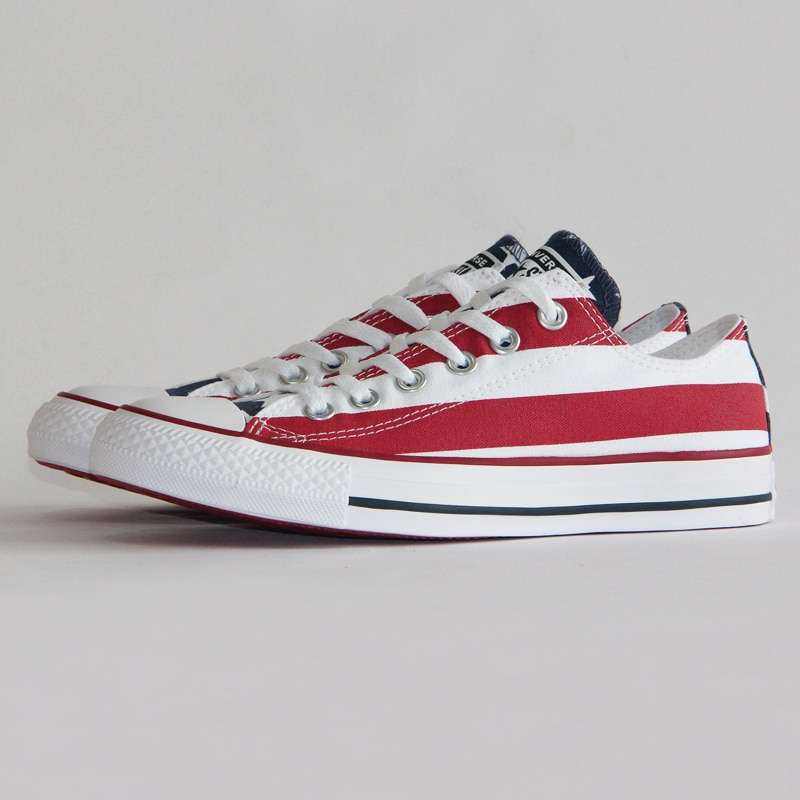 NEW Original CONVERSE The national flag design shoes All Star man women unisex low sneakers Skateboarding 2