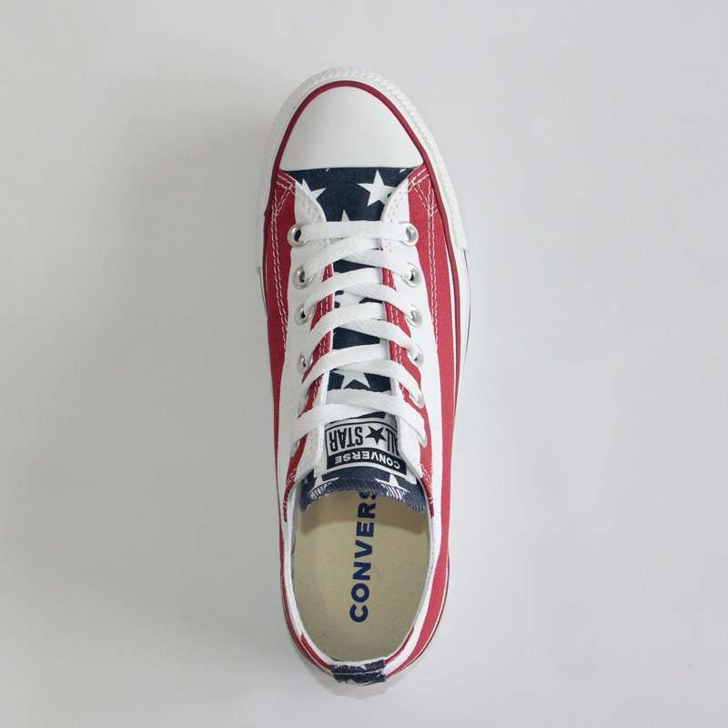 NEW Original CONVERSE The national flag design shoes All Star man women unisex low sneakers Skateboarding 3