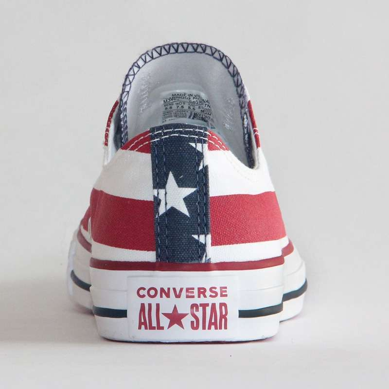 NEW Original CONVERSE The national flag design shoes All Star man women unisex low sneakers Skateboarding 4