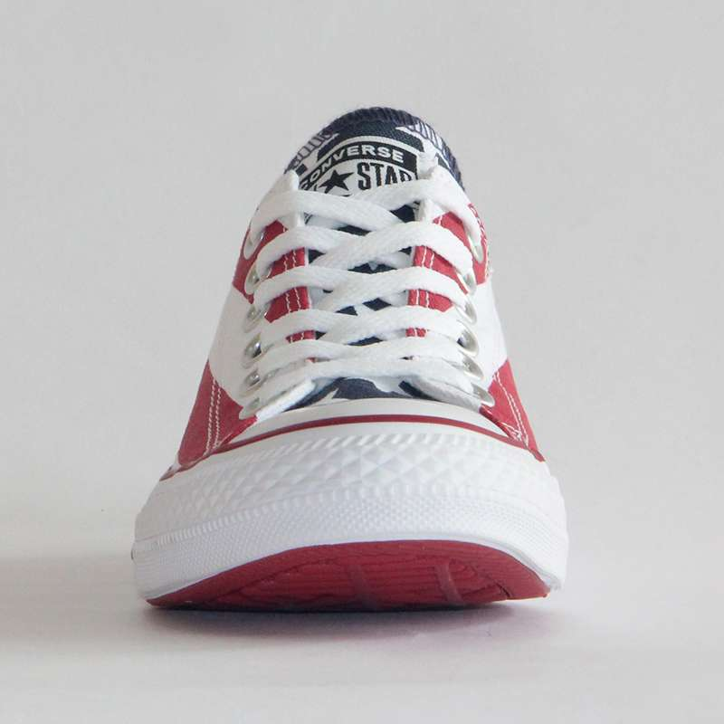NEW Original CONVERSE The national flag design shoes All Star man women unisex low sneakers Skateboarding 5