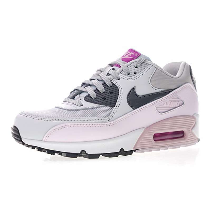 Original Authentic Nike Air Max 90 Women s Running Shoes Sports Outdoor Sneakers Shock Absorbing Lightweight 1