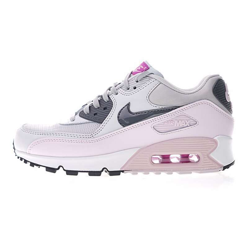 Original Authentic Nike Air Max 90 Women s Running Shoes Sports Outdoor Sneakers Shock Absorbing Lightweight 4