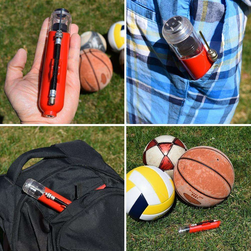 Portable Ball Pump Inflator Mini Hand Held Portable Air Ball Toy Pump For Basketball Soccer Volleyball 5