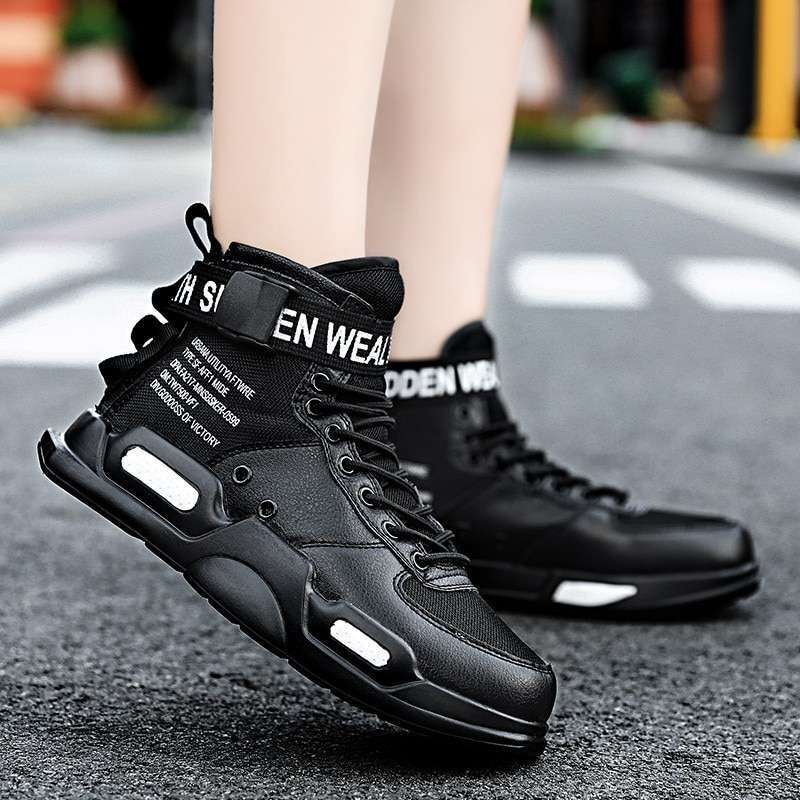 spring high top unisex Sneakers hot sale mens shoes casual for adults tenis masculino Breathable mesh 3