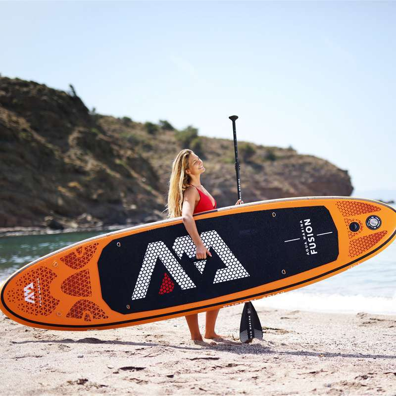 0 315 75 15cm inflatable surfboard FUSION 2019 stand up paddle surfing board AQUA MARINA water sport