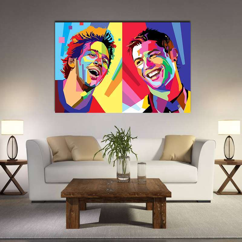 0 Football Star Cristiano Ronaldo Poster Home Decoration Wall Art Pictures Messi Canvas Painting for Kid s