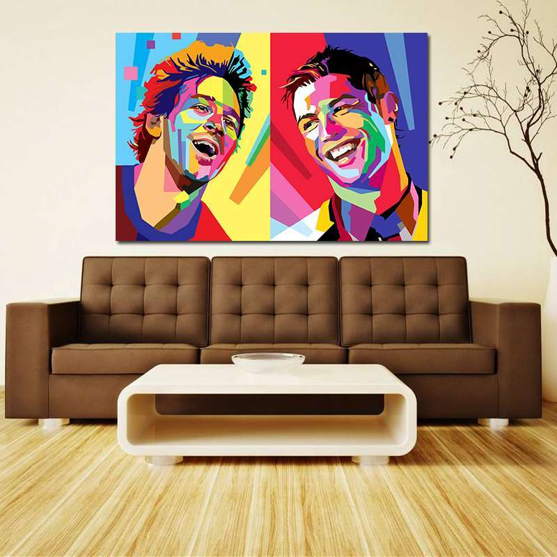 1 Football Star Cristiano Ronaldo Poster Home Decoration Wall Art Pictures Messi Canvas Painting for Kid s