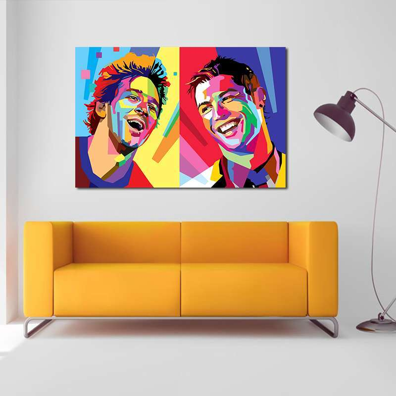 5 Football Star Cristiano Ronaldo Poster Home Decoration Wall Art Pictures Messi Canvas Painting for Kid s