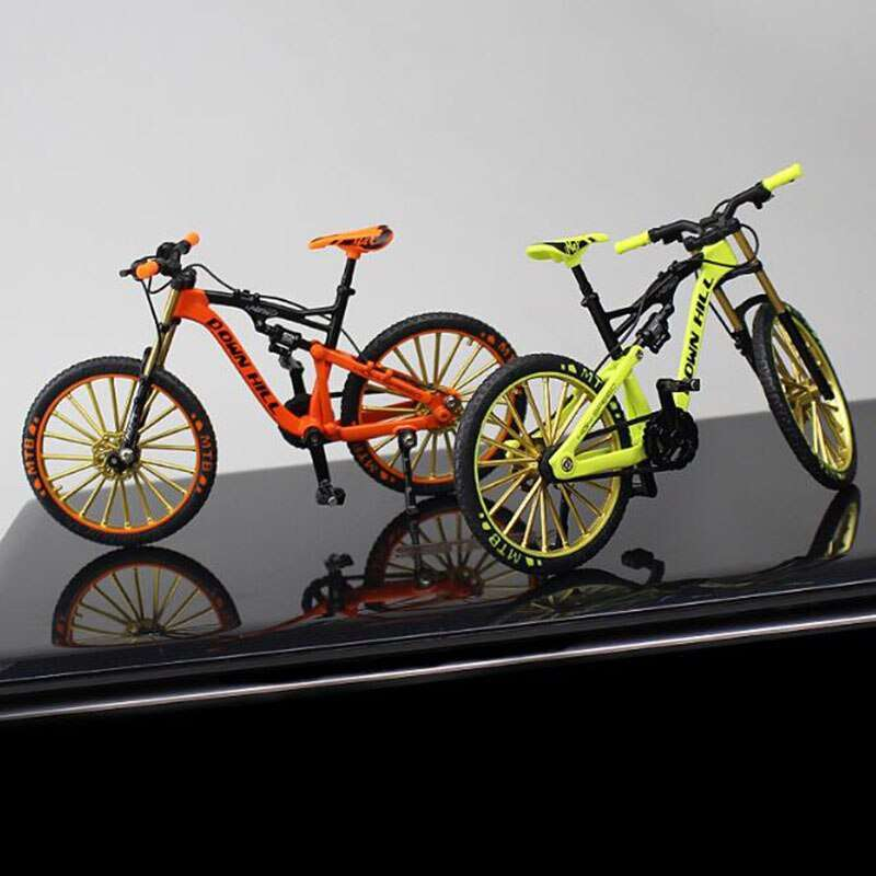 1 10 Metal Alloy Diecast Bicycle Bike Model Toy Racing Cycle Cross Mountain Bike Replica Collection 1