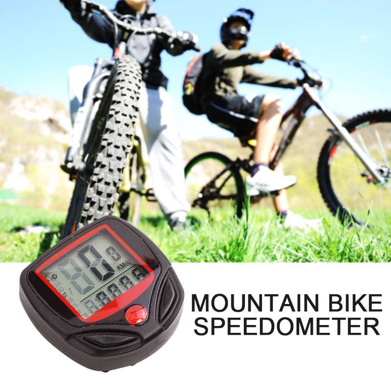 1pc Bike Computer With LCD Digital Display Waterproof Bicycle Odometer Speedometer Cycling Stopwatch Riding Accessories Tool 1