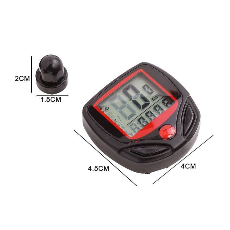 1pc Bike Computer With LCD Digital Display Waterproof Bicycle Odometer Speedometer Cycling Stopwatch Riding Accessories Tool 5