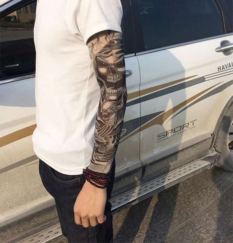 1pc Outdoor Cycling Sleeves 3D Tattoo Printed Armwarmer UV Protection MTB Bike Bicycle Sleeve Arm Protection 2