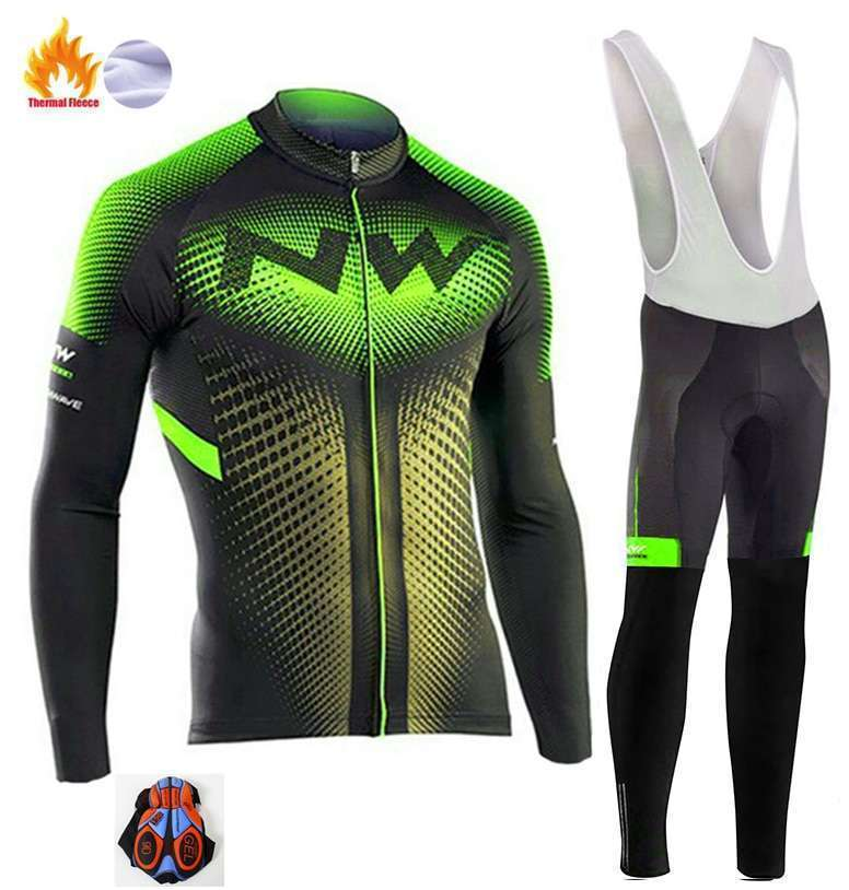 2018 Northwave Pro Team Winter Cycling Clothing Breathable Ropa Ciclismo Long Sleeve MTB Bicycle Clothing Outdoor 2