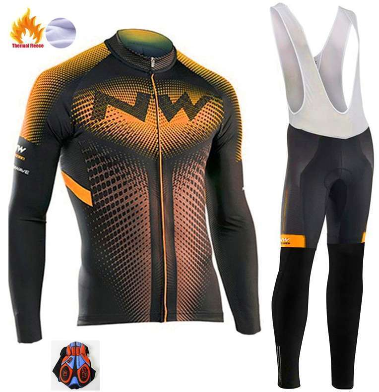 2018 Northwave Pro Team Winter Cycling Clothing Breathable Ropa Ciclismo Long Sleeve MTB Bicycle Clothing Outdoor 3