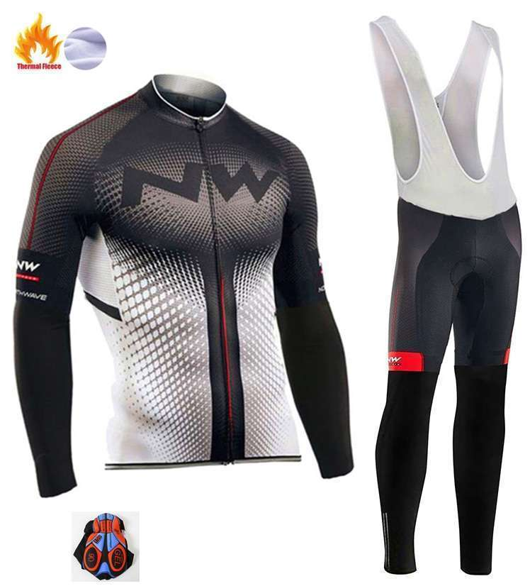 2018 Northwave Pro Team Winter Cycling Clothing Breathable Ropa Ciclismo Long Sleeve MTB Bicycle Clothing Outdoor 4