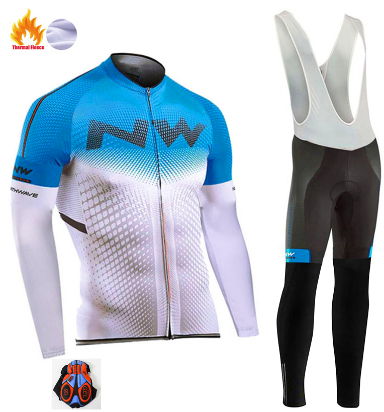 2018 Northwave Pro Team Winter Cycling Clothing Breathable Ropa Ciclismo Long Sleeve MTB Bicycle Clothing Outdoor