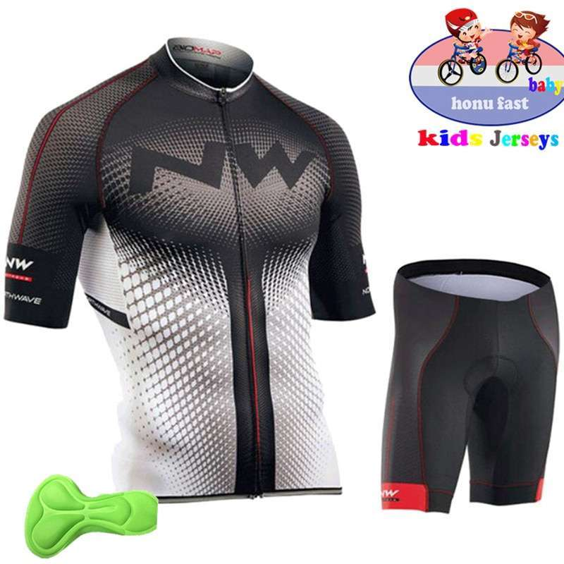 2018 summer kids Cycling Clothing Bicycle Wear Short sleeve Jersey with Shorts Set Children MTB Road 1
