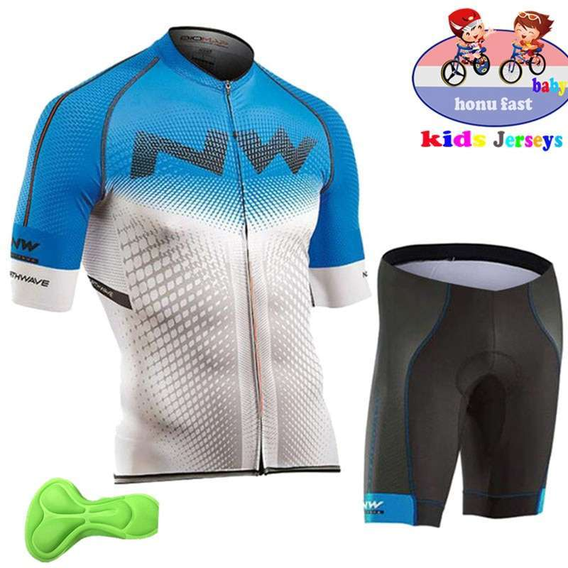 2018 summer kids Cycling Clothing Bicycle Wear Short sleeve Jersey with Shorts Set Children MTB Road 3