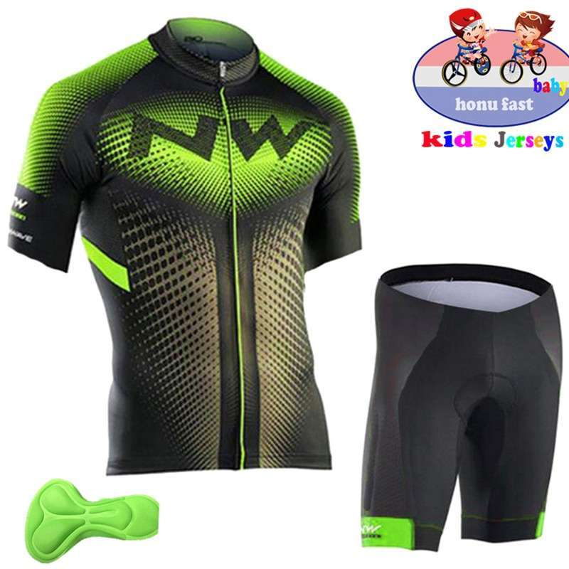 2018 summer kids Cycling Clothing Bicycle Wear Short sleeve Jersey with Shorts Set Children MTB Road