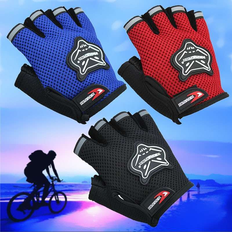 2019 High Quality Children Kids Bike Gloves Half Finger Breathable Anti slip For Sports Riding Cycling 3