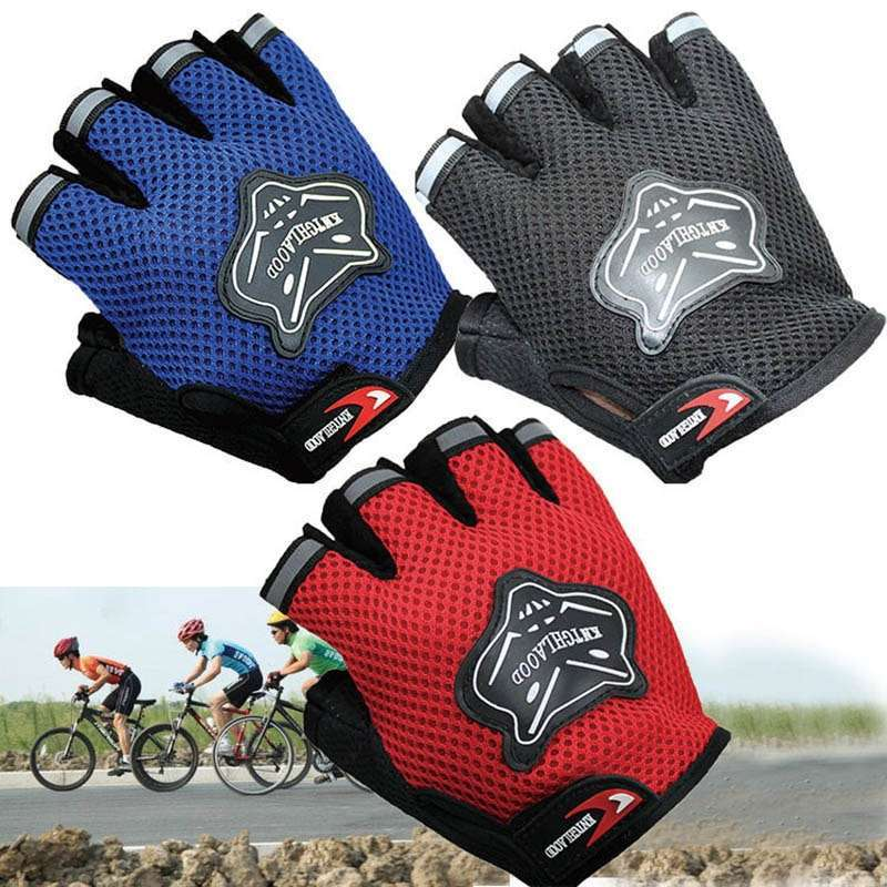 2019 High Quality Children Kids Bike Gloves Half Finger Breathable Anti slip For Sports Riding Cycling
